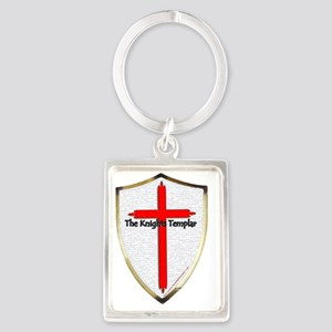 Templar Shield Large Portrait Keychain